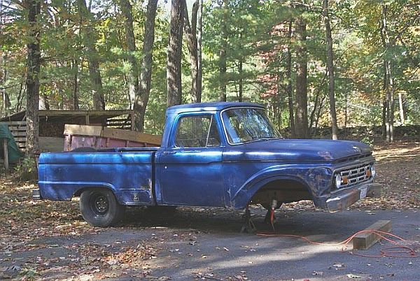 F100 Solid Axle to Independent Front Suspension on the Cheap!