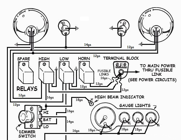 Hot Rod Headlight Wiring Diagram