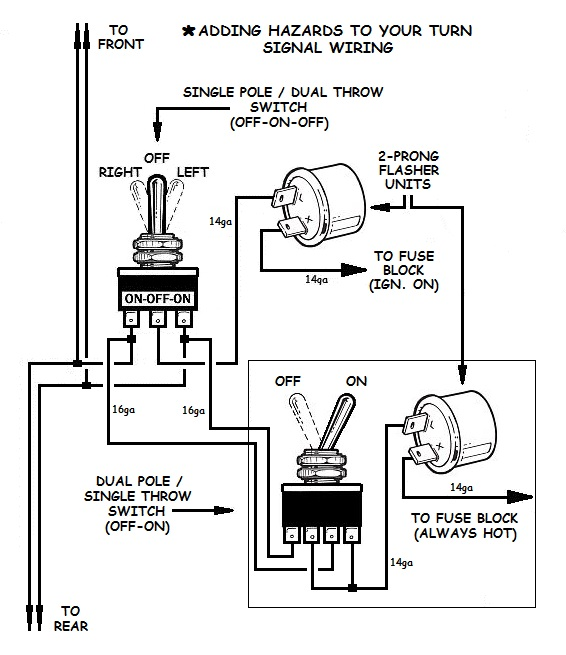 how to add turn signals and wire them up GL1200I Turn Signal Diagram