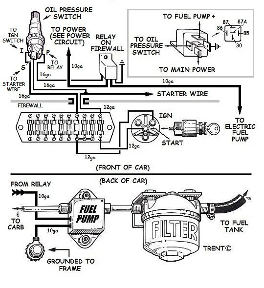 electric fuel pump how to do it right rh how to build hotrods com Fuel Pump Relay Switch Diagram 1990 Dodge PK Up Fuel Pump Relay Diagram