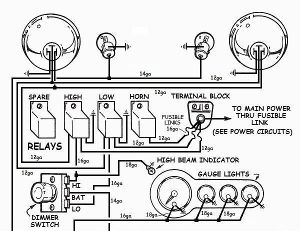 how to wire up lights in your hotrod rh how to build hotrods com simple street rod wiring diagram Hot Rod Wiring Starter