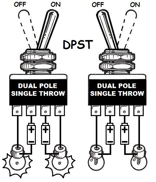 Wiring Diagram Double Pole Double Throw Toggle Switch : How to add turn signals and wire them up