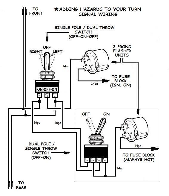 How to Add Turn Signals and Wire Them Up  Prong Switch Wiring Diagram on 4 prong switch wiring diagram, 3 prong switch wiring diagram, 5 prong switch wiring diagram,